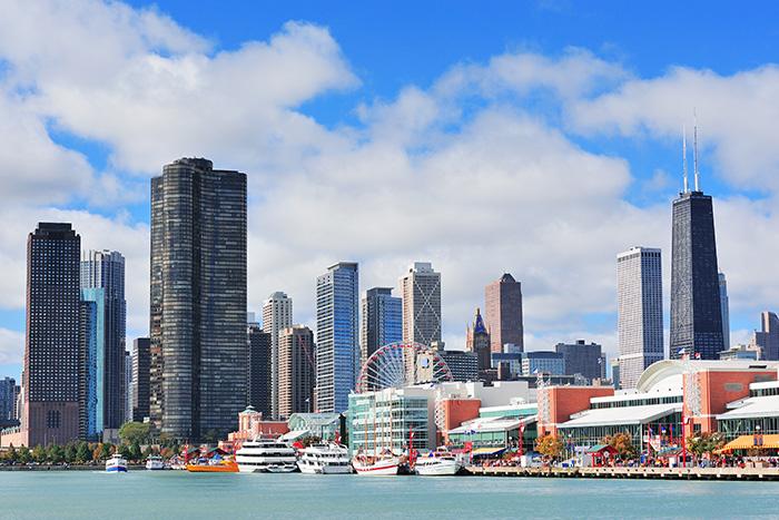 La città del vento, famosa per il suo skyline