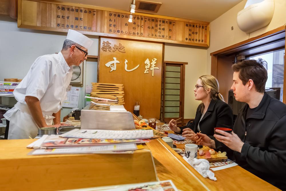 Sushi al centro di Tokyo